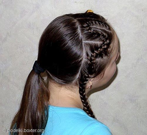 """Причёска """"Змейка"""""""