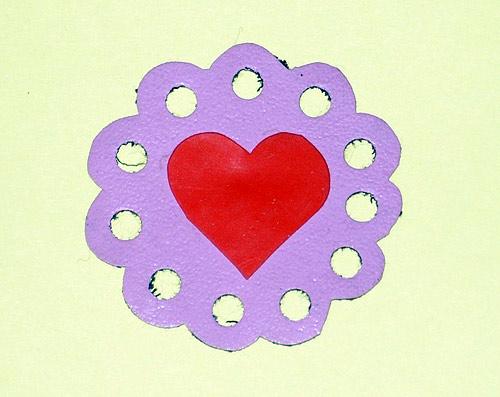 Обычные валентинки из бумаги