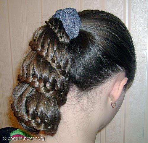 """Причёска """"Воздушная коса"""""""