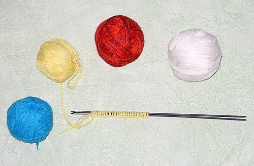 Мячик вязаный