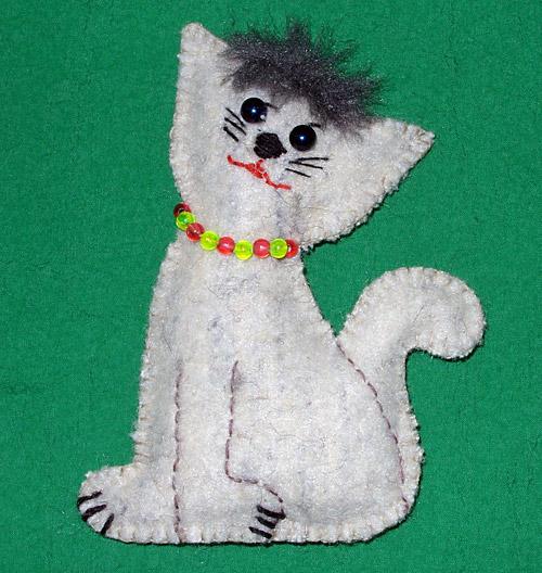 Котик из ваты своими руками 1