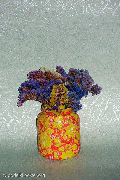 Декупаж вазочек