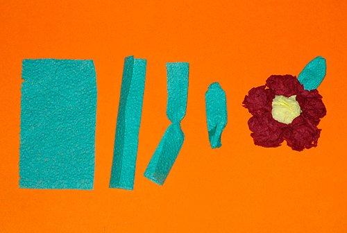 Салфеточные цветы